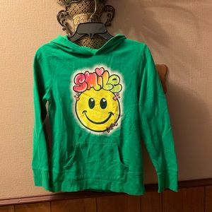 Adorable and soft Justice hoodie girls size 14